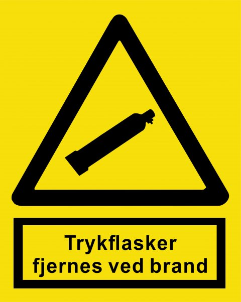 Trykflasker fjernes ved brand 148 x 210 mm